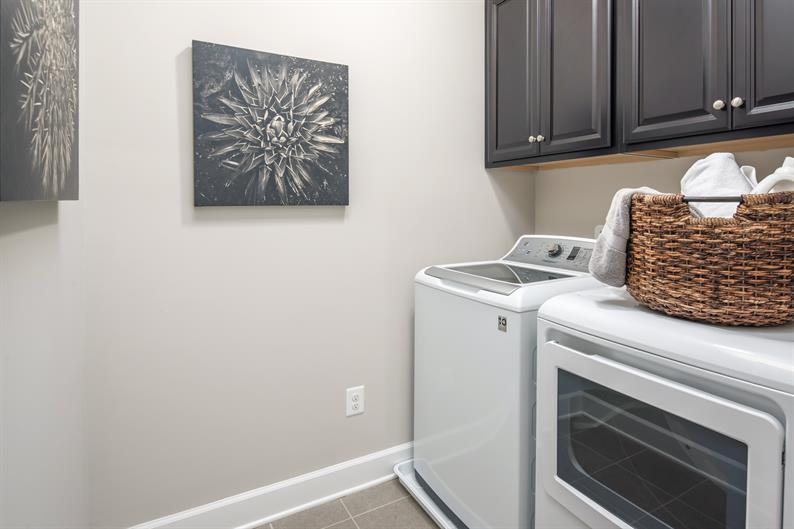 Convenient second floor laundry room