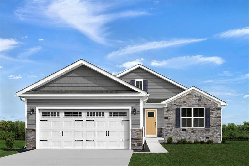 INCLUDED STONE DETAILS, TWO CAR GARAGES AND FULL BASEMENTS FOR STORAGE