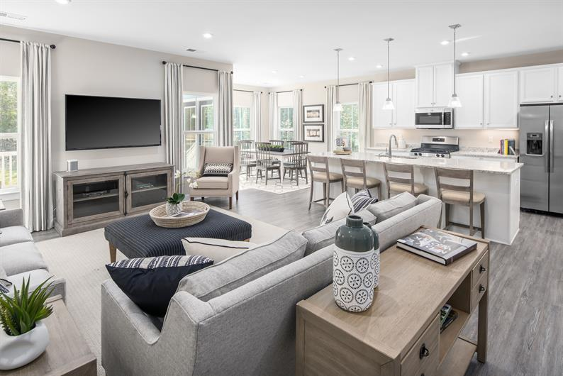 Spacious homes and open floorplans