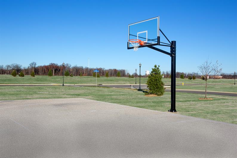 PLAY A GAME OF HOOPS AT THE COMMUNITY BASKETBALL COURT