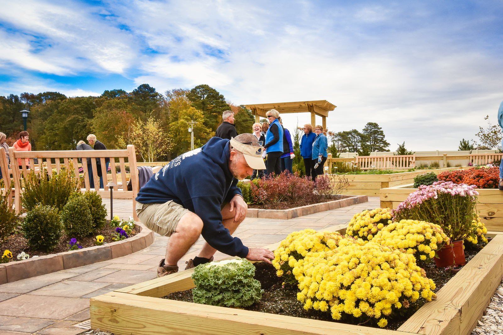 You'll love catching up with neighbors and exploring the herb garden at Bay Forest