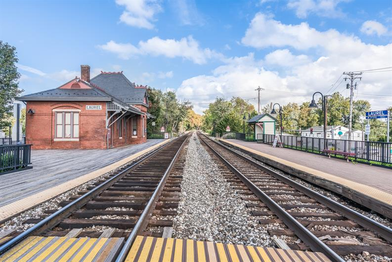 Stroll, Bike, or Drive to Nearby Laurel MARC Train Station
