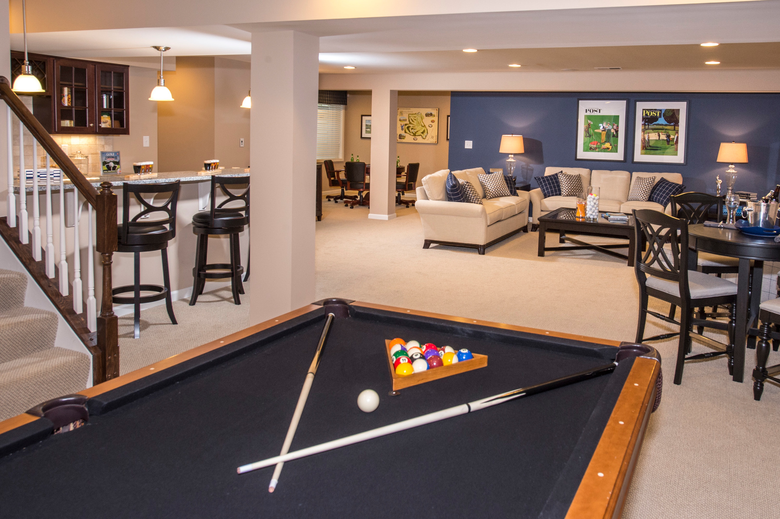 Need more space? Personalize your home with an expansive finished basement, the perfect spot for game day!