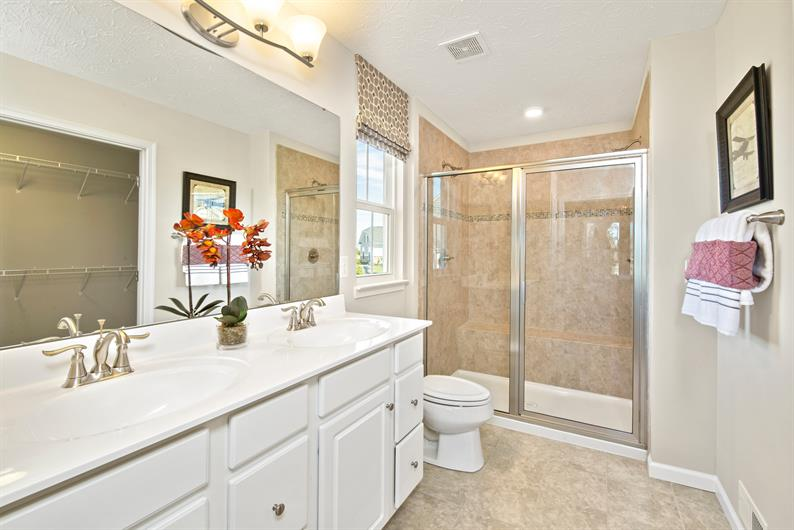 Spacious Owner's Suite with Double Vanities