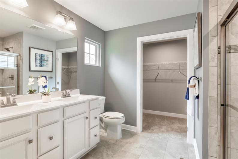 EN SUITE WITH SEATED SHOWER AND PLENTY OF CLOSET STORAGE
