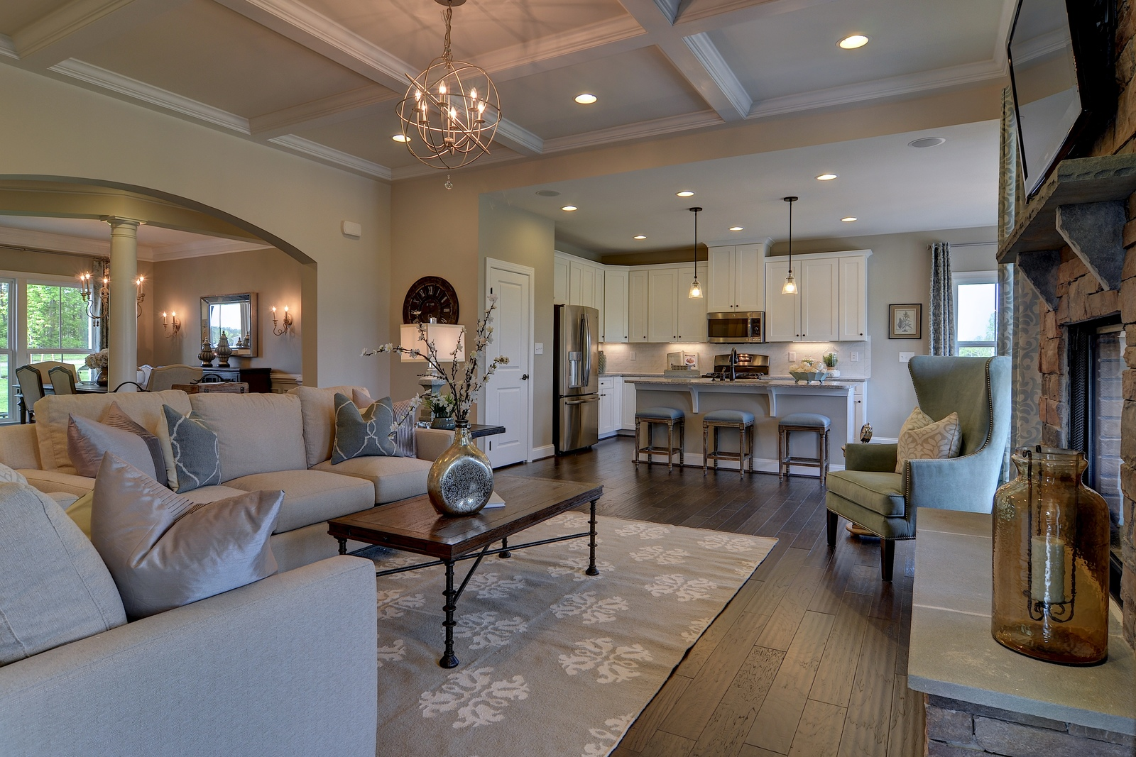 Wide Open Space Connects The Living Dining And Cooking Areas Of Your New Home