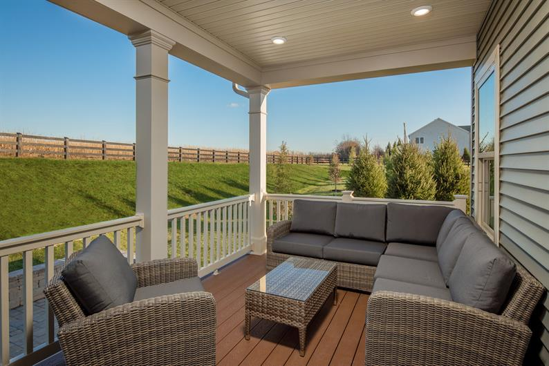 FIND YOUR ZEN LOUNGING ON AN OPTIONAL COVERED REAR PORCH OR DECK