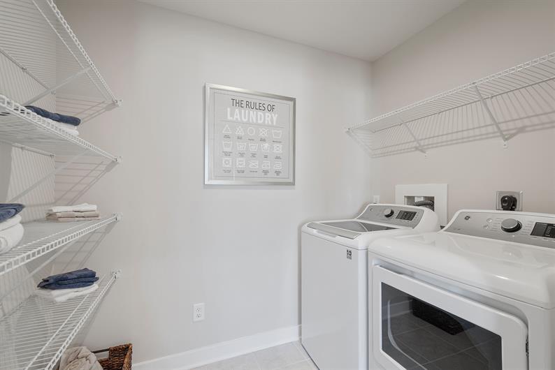 Bedroom-Level Laundry