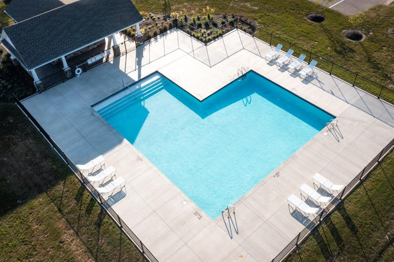 SUMMER FUN IS BUILT IN AT THE COMMUNITY POOL