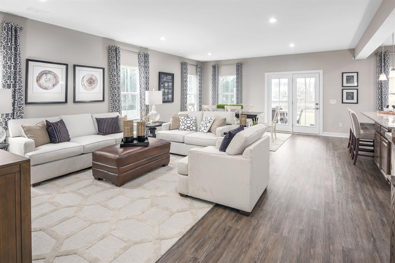 Open and airy floorplans are ideal for entertaining
