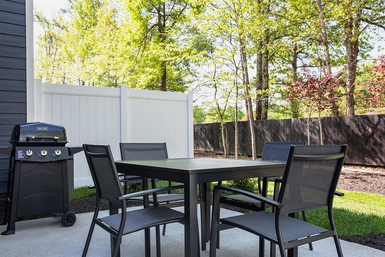Private outdoor space that extends your entertainment area