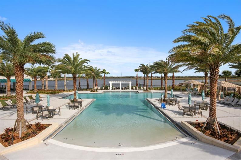 Resort-Style Zero Entry Pool