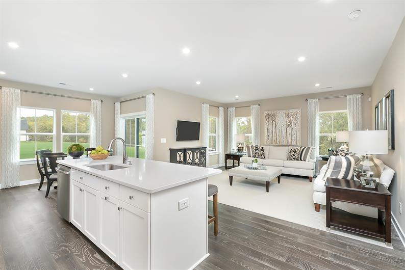 Open floorplans let you entertain while prepping dinner