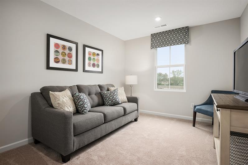 FLEX ROOMS AND LOFT SPACE ARE PERFECT FOR HOMEWORK OR A HOME OFFICE