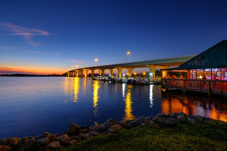 Waterfront Dining only Minutes from Lost Tree