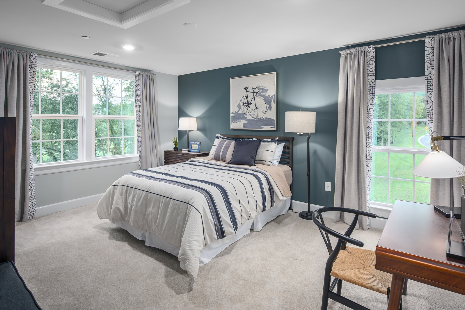 Treat guests and family members to sizable secondary bedrooms with ample storage.