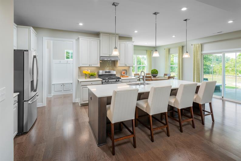 Kitchens Include Spacious Islands and Plenty of Cabinet Space