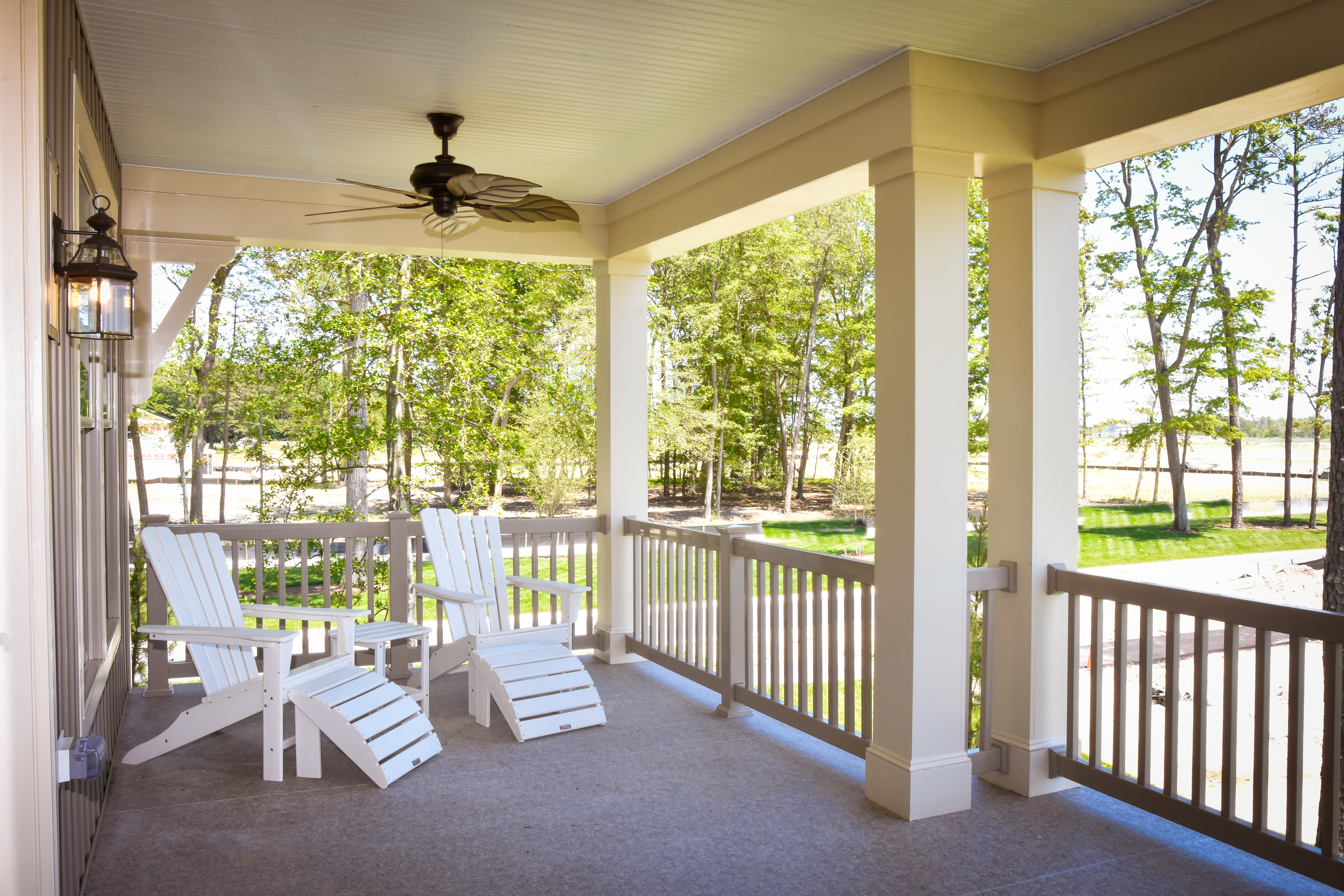 Included double decker back porches are designed to showcase this natural serene setting.