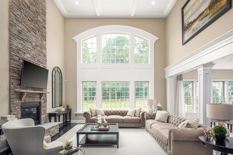 Airy Two-Story Family Room