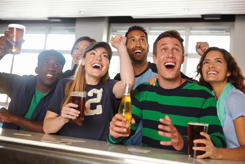 JOIN FRIENDS FOR THE BIG GAME, DRINKS, AND A MEAL AT THE MANY OPTIONS NEAR YOUR NEW HOME
