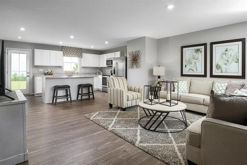 Open concept floorplan to entertain