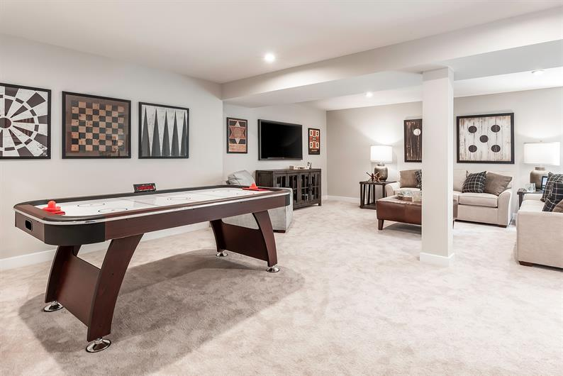 FANTASTIC BASEMENT FINISHES ALLOWS FOR ENTERTAINING