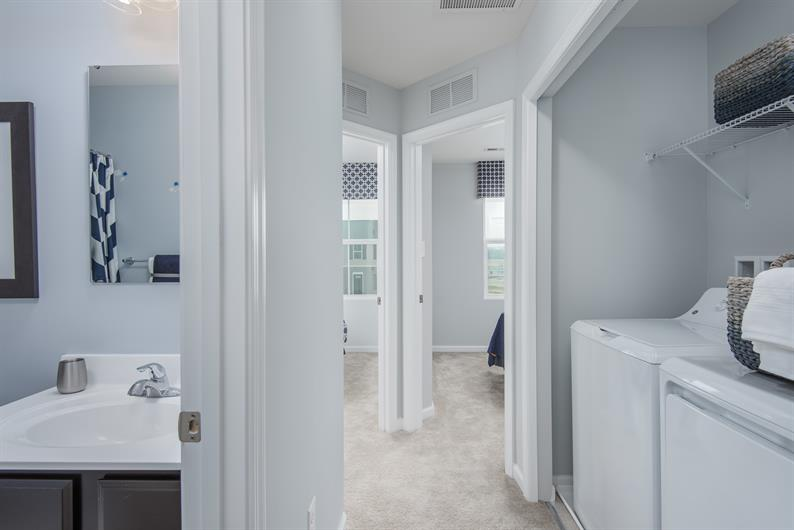 Bedroom Level Laundry Space