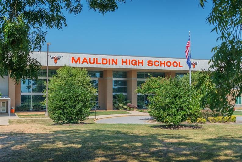 Mauldin High School - Home of the Mavs is less than a mile away