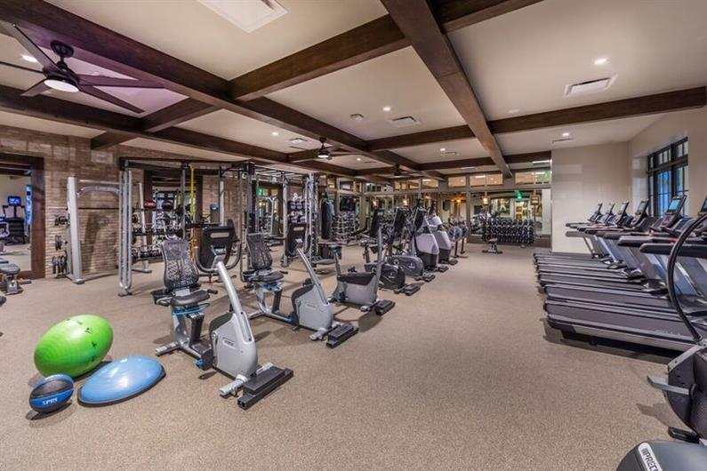 Expansive Resident-Only Fitness Center