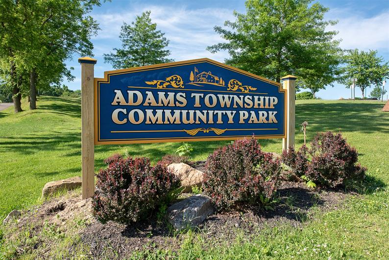 Adams Township Community Park Just 1.5 miles away