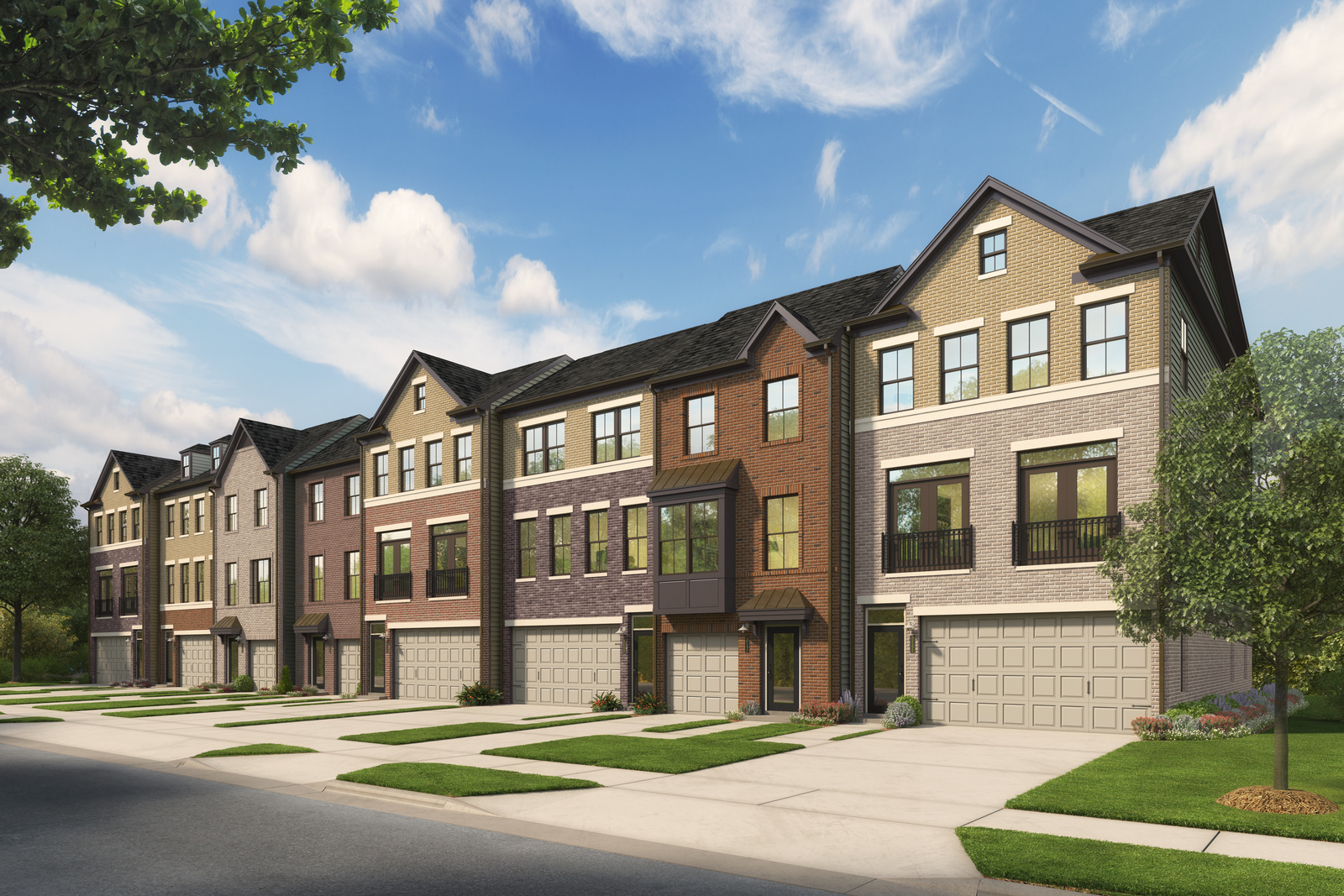 New luxury homes for sale at metro row in fairfax va for Modern homes for sale in virginia