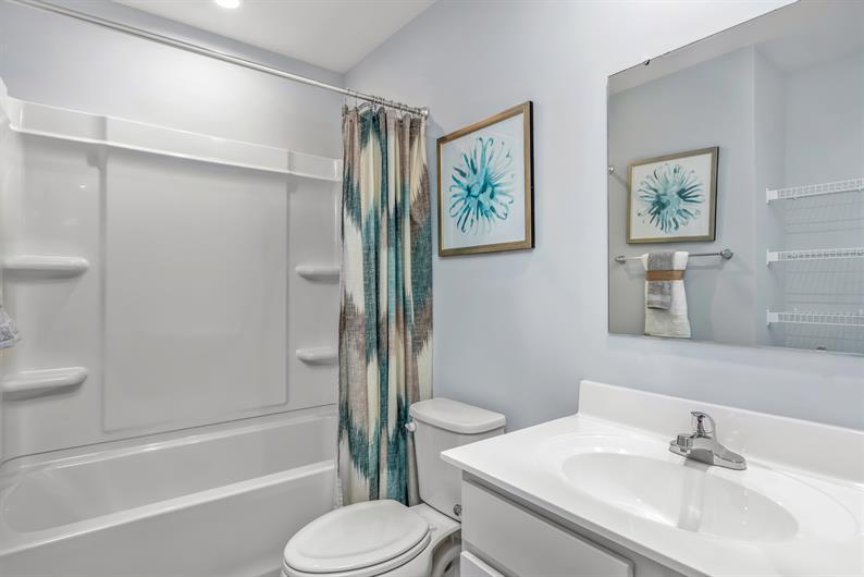 Generously sized bathrooms