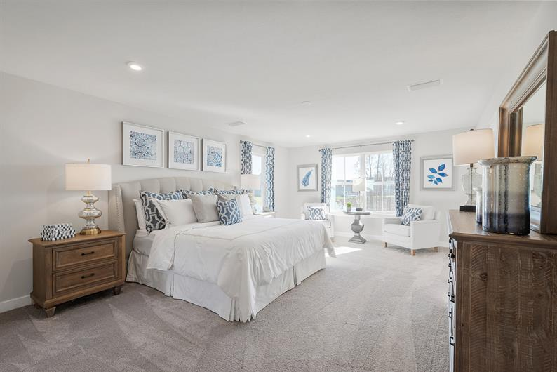 RELAX AND UNWIND IN A SPACIOUS SUITE WITH LUXURIOUS EN SUITE BATH AND WARDROBE-SIZED WALK-IN CLOSET