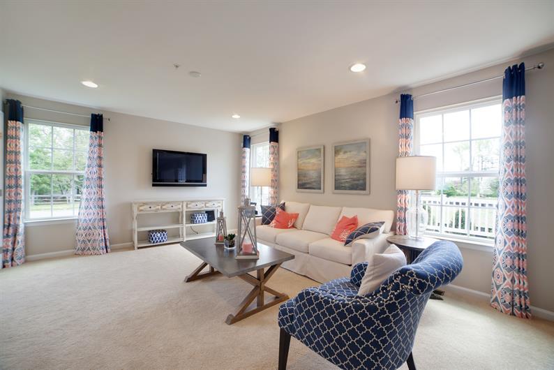 Natural light-filled rooms
